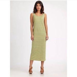 Eileen Fisher linen striped maxi dress